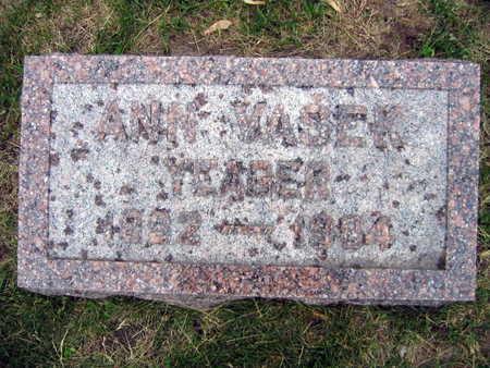 VASEK YEAGER, ANNA - Linn County, Iowa   ANNA VASEK YEAGER