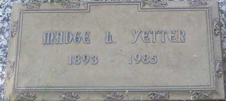 YETTER, MADGE L - Linn County, Iowa   MADGE L YETTER