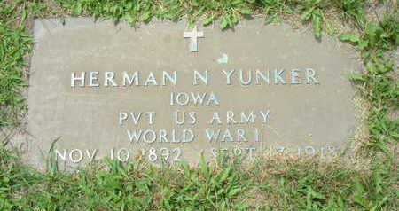 YUNKER, HERMAN - Linn County, Iowa   HERMAN YUNKER