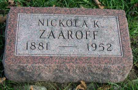 ZAAROFF, NICKOLA K. - Linn County, Iowa | NICKOLA K. ZAAROFF