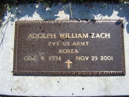 ZACH, ADOLPH WILLIAM - Linn County, Iowa | ADOLPH WILLIAM ZACH