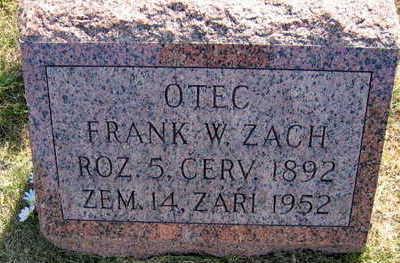ZACH, FRANK W. - Linn County, Iowa | FRANK W. ZACH