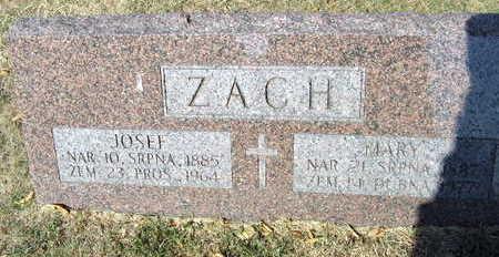 ZACH, JOSEF - Linn County, Iowa | JOSEF ZACH