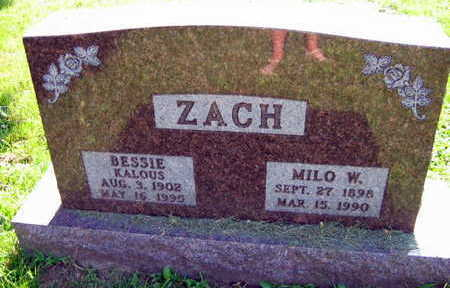 KALOUS ZACH, BESSIE - Linn County, Iowa | BESSIE KALOUS ZACH