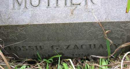 ZACHARY, FLOSSIE G. - Linn County, Iowa | FLOSSIE G. ZACHARY
