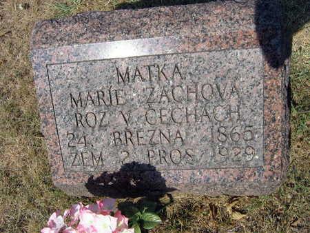 ZACHOVA, MARIE - Linn County, Iowa | MARIE ZACHOVA