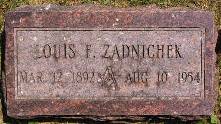 ZADNICHEK, LOUIS F. - Linn County, Iowa   LOUIS F. ZADNICHEK