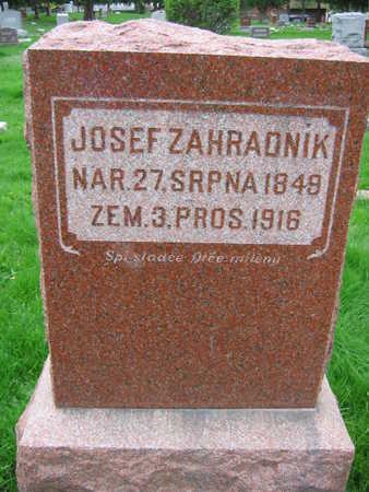 ZAHRADNIK, JOSEPH - Linn County, Iowa   JOSEPH ZAHRADNIK