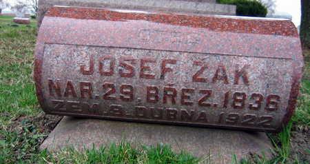 ZAK, JOSEF - Linn County, Iowa   JOSEF ZAK