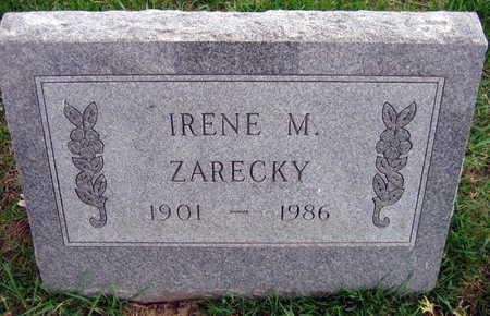 ZARECKY, IRENE M. - Linn County, Iowa   IRENE M. ZARECKY