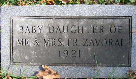 ZAVORAL, BABY DAUGHTER - Linn County, Iowa | BABY DAUGHTER ZAVORAL