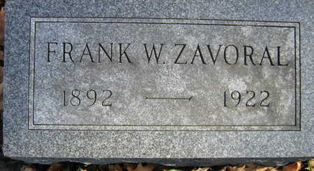 ZAVORAL, FRANK W. - Linn County, Iowa | FRANK W. ZAVORAL