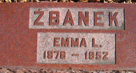 ZBANEK, EMMA L. - Linn County, Iowa   EMMA L. ZBANEK