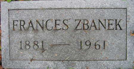 ZBANEK, FRANCES - Linn County, Iowa | FRANCES ZBANEK