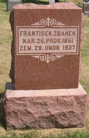 ZBANEK, FRANTISEK - Linn County, Iowa   FRANTISEK ZBANEK