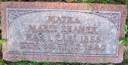 ZBANEK, MARIE - Linn County, Iowa | MARIE ZBANEK