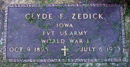 ZEDICK, CLYDE F. - Linn County, Iowa   CLYDE F. ZEDICK