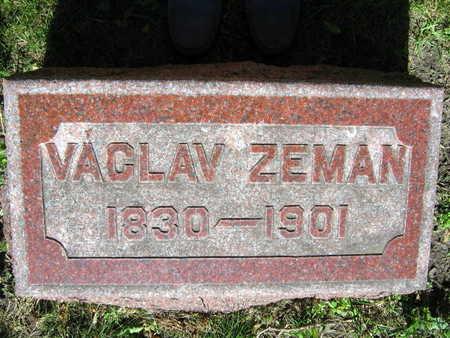 ZEMAN, VACLAV - Linn County, Iowa   VACLAV ZEMAN