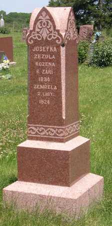 ZEZULA, JOSEFKA - Linn County, Iowa   JOSEFKA ZEZULA