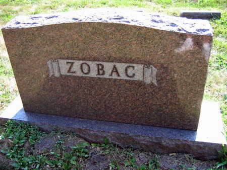 ZOBAC, FAMILY STONE - Linn County, Iowa   FAMILY STONE ZOBAC