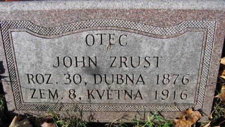 ZRUST, JOHN - Linn County, Iowa   JOHN ZRUST
