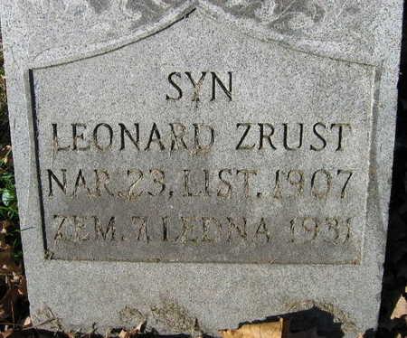 ZRUST, LEONARD - Linn County, Iowa | LEONARD ZRUST