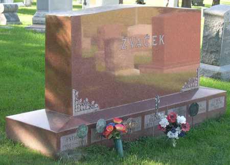 ZVACEK, FAMILY STONE - Linn County, Iowa | FAMILY STONE ZVACEK