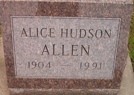 HUDSON ALLEN, ALICE - Louisa County, Iowa | ALICE HUDSON ALLEN