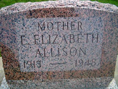ALLISON, E. ELIZABETH - Louisa County, Iowa   E. ELIZABETH ALLISON