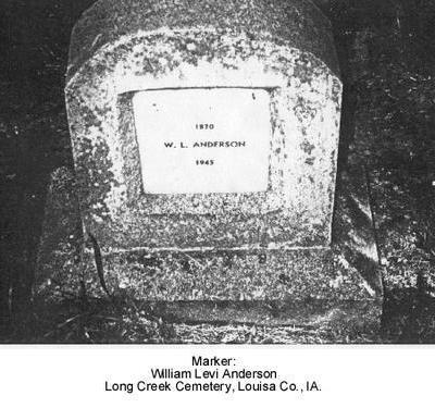 ANDERSON, WILLIAM  LEVI - Louisa County, Iowa | WILLIAM  LEVI ANDERSON