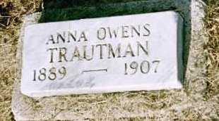 OWENS ANNA, TRAUTMAN - Louisa County, Iowa | TRAUTMAN OWENS ANNA
