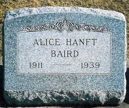 BAIRD, ALICE HANFT - Louisa County, Iowa | ALICE HANFT BAIRD
