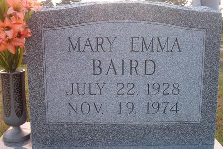 BAIRD, MARY EMMA - Louisa County, Iowa   MARY EMMA BAIRD