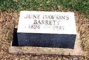 HAWKINS BARRETT, JUNE - Louisa County, Iowa | JUNE HAWKINS BARRETT
