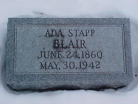 STAPP BLAIR, ADA - Louisa County, Iowa | ADA STAPP BLAIR