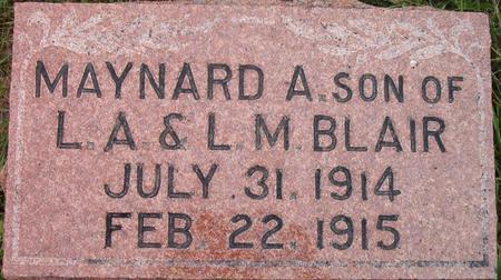 BLAIR, MAYNARD A. - Louisa County, Iowa   MAYNARD A. BLAIR