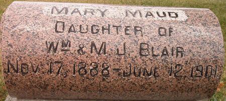 BLAIR, MARY MAUD - Louisa County, Iowa   MARY MAUD BLAIR
