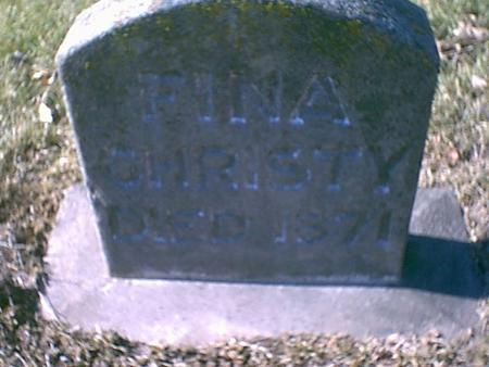 CHRISTY, FINA - Louisa County, Iowa | FINA CHRISTY