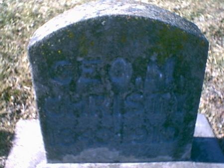 CHRISTY, GEORGE W. - Louisa County, Iowa | GEORGE W. CHRISTY