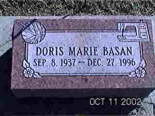 BASAN, DORIS MARIE - Louisa County, Iowa | DORIS MARIE BASAN