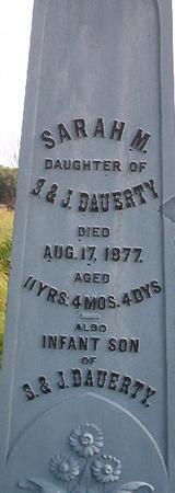 DAUERTY, SARAH M. - Louisa County, Iowa   SARAH M. DAUERTY