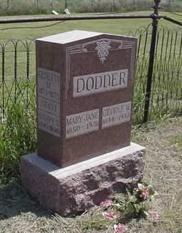DODDER, FAMILY MONUMENT - Louisa County, Iowa | FAMILY MONUMENT DODDER