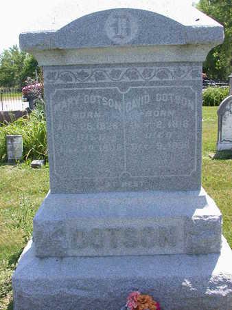 DOTSON, MARY - Louisa County, Iowa   MARY DOTSON