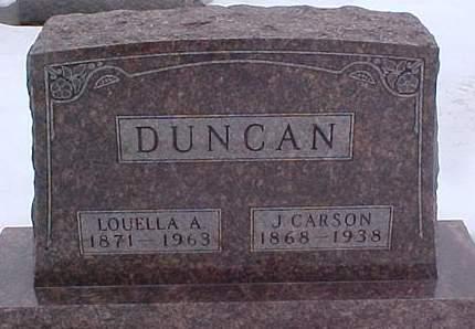 DUNCAN, J. CARSON - Louisa County, Iowa | J. CARSON DUNCAN