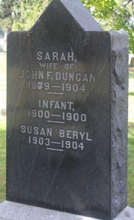 DUNCAN, INFANT - Louisa County, Iowa   INFANT DUNCAN