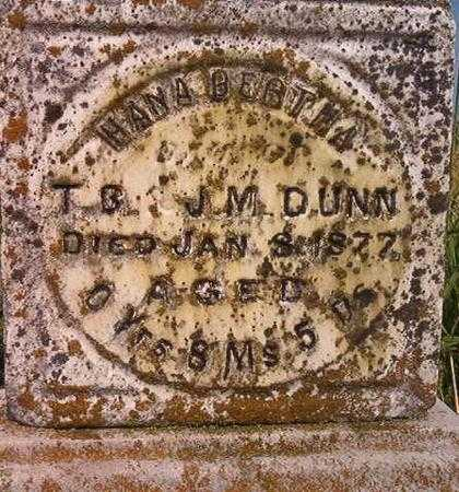 DUNN, HANA BERTHA - Louisa County, Iowa | HANA BERTHA DUNN