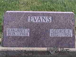 EVANS, MARGARET - Louisa County, Iowa | MARGARET EVANS