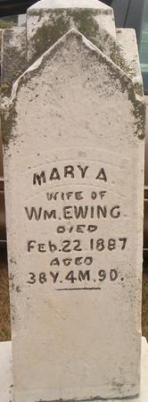 EWING, MARY A. - Louisa County, Iowa | MARY A. EWING