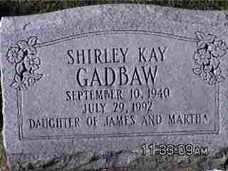 GADBAW, SHIRLEY - Louisa County, Iowa | SHIRLEY GADBAW