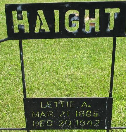 WESTFALL HAIGHT, LETTIE ANN - Louisa County, Iowa | LETTIE ANN WESTFALL HAIGHT